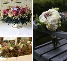 dusky pink mocha wedding flowers