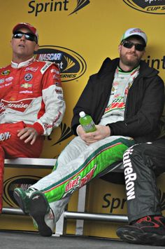 AAA-Texas-500-Dale Earnhardt Jr and Kevin Harvick