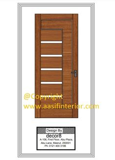 Door design - Design by Aasif Interior Designer & Decorator Latest Door Designs, Modern Interior Design, Design Design, Tall Cabinet Storage, Doors, Natural, Furniture, Home Decor, Decoration Home