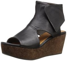 Coclico Women's Mind Wedge Sandal * Quickly view this special outdoor item, click the image : Wedge sandals Platform Wedges Shoes, Black Wedge Sandals, Wedge Shoes, Shoes Sandals, Shoe Boots, Shoe Bag, Beautiful Shoes, Chic, Designer Shoes