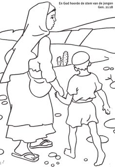 hagar and ishmael coloring pages - photo#17