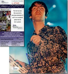 """NOEL GALLAGHER - OASIS - Hand Signed 8x10"""" Photograph of His Brother Liam - JSA in Collectibles, Autographs, Music 