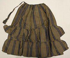 1860's American silk apron.  Metropolitan Museum of Art