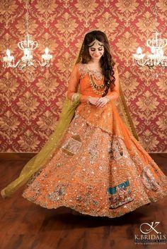Pakistani Mehndi Dress, Bridal Mehndi Dresses, Pakistani Wedding Dresses, Indian Wedding Outfits, Bridal Outfits, Bridal Lehenga, Wedding Attire, Indian Dresses, Mehendi