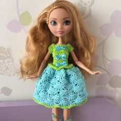 Handmade dress for Ever After High Doll by DianaWeddingBoutique