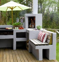 How Does Pergola Provide Shade Key: 6499149013 Simple Outdoor Kitchen, Outdoor Kitchen Bars, Outdoor Oven, Outdoor Kitchen Design, Outdoor Cooking, Outdoor Rooms, Outdoor Furniture Sets, Outdoor Decor, Modern Patio