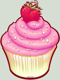 Cupcake art | Fluffy Cupcake Love - afterimages of ghostfire - the art of Julia ...