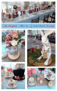 How To Host An Elegant Alice in Wonderland Party for Adults - Table Settings Alice In Wonderland Garden, Alice In Wonderland Tea Party Birthday, Alice In Wonderland Decorations, Alice Tea Party, Tea Party Theme, Party Hats, Tea Party Centerpieces, Tea Party Bridal Shower, Tea Party Wedding