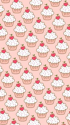 Le tag più usate per questa immagine: pattern, wallpaper, background, cupcakes e food