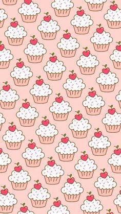 Imagem de pattern, cupcake, and pink