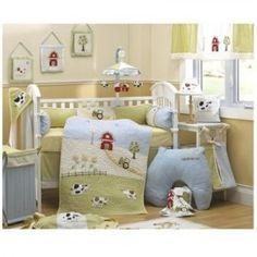 Lovely nursery theme, probably for a boy #nursery #baby #decor