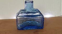 #Victorian #antique #stunning cornflower blue / ice blue boat ink bottle inkwell,  View more on the LINK: http://www.zeppy.io/product/gb/2/162083541562/