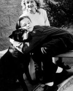 Aww. Leo and Irmelin and probably their dog. Many many moons ago.