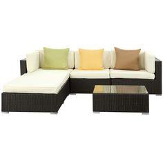 Captivating (Home Sofas)LexMod Innovate Outdoor Wicker Rattan Patio Sectional Sofa Set