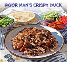 Poor Man's Crispy Duck (Pulled Hoisin Pork Tortillas)  - Fab Food 4 All