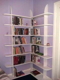 DIY corner shelf (for family room, opposite laundry room)