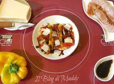 Insalata di Gamberi con Peperoni e Scaglie di Parmigiano