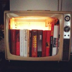 DIY bookcase from an old tv! I did it!