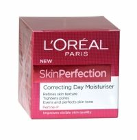 Loreal Skin Perfection Correcting Day Moisturiser 50ml A perfecting skin cream that improves visible skin quality, day after day. The advanced formula, enriched with Perline-P, helps correct and improve the appearance of skin quality, as if perfected.