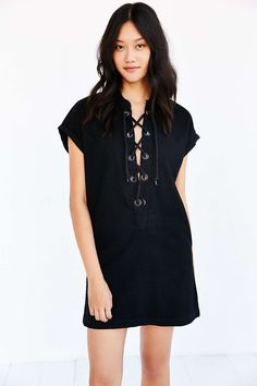 COURTSHOP  Lace-Up Tunic Dress  37462306_001_b
