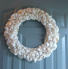 Pretty In White, Seashell Wreath / Seashell Wreaths / Shell Decor™ > Beautiful, decorated Sea Shell and Seashell Mirrors.