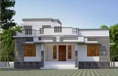 1026 Sq Ft Single Storey Beautiful House and Plan, 15 Lacks - Home Pictures Indian House Exterior Design, Kerala House Design, Small Modern House Plans, Small House Floor Plans, Architect Design House, Bungalow House Design, Single Floor House Design, Simple House Design, House Outside Design