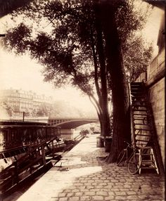 Quai d'Anjou, Paris 1910, Eugène Atget