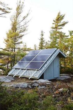 PHOTOS Sarah Richardson s Rental Cottage in Georgian Bay - solar panels generator.JPG