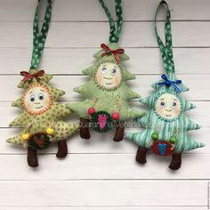 Купить Неколючая ёлочка - зеленый, елка, елка ручной работы, елка 2016, елочная игрушка