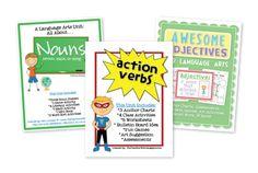 the teacher wife: parts of speech bundle {nouns, verbs, & adjectives}