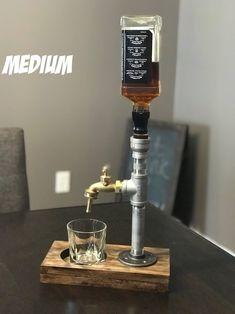 Whiskey Dispenser, Alcohol Dispenser, Beverage Dispenser, Beverage Drink, Liquor Bottle Crafts, Liquor Bottles, Stainless Steel Tubing, Stainless Steel Bottle, Whisky Spender