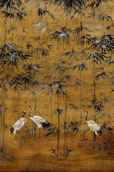 Bring timeless oriental style to your home with this chai brown oriental bird wallpaper in the chinoiserie style. Asian Wallpaper, Bird Wallpaper, Wallpaper Direct, Print Wallpaper, Wallpaper Roll, Oriental Wallpaper, Chinese Wallpaper, Classic Wallpaper, Custom Wallpaper
