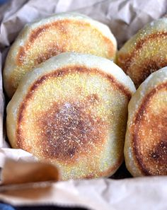 Quick and Soft English Muffins - soft, fluffy english muffins with only an hour of rising time. Better than any store-bought versions! English Muffin Recipes, Homemade English Muffins, Bread Recipes, Cooking Recipes, Strata Recipes, Yummy Recipes, Yeast Dough Recipe, My Favorite Food, Favorite Recipes