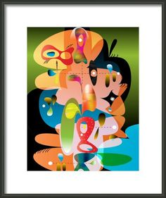 Abstract print Voltaire Fine art print by AtomDustbin on Etsy, $30.00
