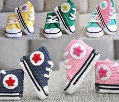 Baby Booties Converse Crochet Pattern - Art Crafts