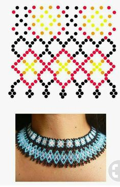 Peyote Patterns, Beading Patterns, Beading Tutorials, Beadwork, Boho Fashion, Diana, Diy And Crafts, Jewlery, Beaded Necklace