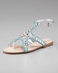 Miu Miu Starfish Flat Sandal