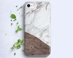 iPhone Case Geometric Marble Wood iPhone 4/4s iPhone by boxyArts