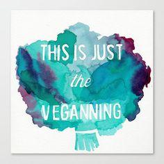 This is Just the Veganning // Chromogenic Photographic Print - Vegetarian lifestyle Vegan Puns, Vegan Memes, Vegan Quotes, Vegan Humor, Why Vegan, Vegan Vegetarian, Vegan Food, Vegan Art, How To Become Vegan