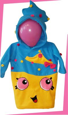 *** WE CAN SHIP OVERNIGHT TO ENSURE YOU RECEIVE YOUR ORDER BEFORE HALLOWEEN, PLEASE ONCE YOU PLACE YOUR ORDER, LOOK AT OUR LISTINGS, YOU WILL FIND A LISTING FOR EXPRESS SHIPPING, PAY FOR THAT ONE AS WELL AND SEND US A MESSAGE. ***  SHOPKINS inspired cupcake hoodie.  Unique and fabulous Kids pullover hoodie.  We will make ANY character your imagination musters. Send us a message and we will make it happen.  PLEASE send us a message before placing your order so we can figure out your sizing or…