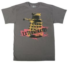 Doctor Who Dalek Exterminate makes  a great tee for men