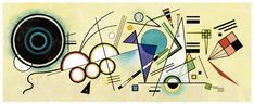 On 16 December, Google pays tribute to Vassily Kandinsky, who had 148 years today. Born in 1866, the Russian began to study painting at the age of thirty, at the Academy of fine arts in Munich. In 1910, he painted the first abstract watercolor. Subject to controversy, the canvas is suspected by historians of art have been painted later announced by his painter. He frequently plays with shapes and colors, claiming to be inspired by the work of Monet.
