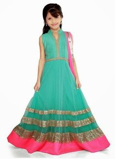 Ethnic Wear Dresses For Kids - Baby Girls Wedding Wear Suits - Fashion Hunt World