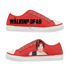 The Walking Dead Daryl Dixon Norman Reedus Women Canvas Shoes - Sizes: US 5 6 7 8 9 - EUR 36 37 38 39 40 on Etsy, $47.36