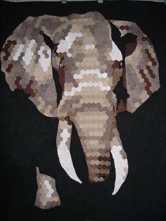 Elephant quilt by Helen Dickson. https://www.pinterest.com/smudgersworld/my-stuff/
