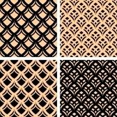 Seamless patterns set.  stock photography