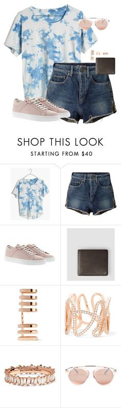 """Untitled #12774"" by alexsrogers ❤ liked on Polyvore featuring Madewell, Yves Saint Laurent, HUGO, AllSaints, Repossi, Suzanne Kalan and Betsey Johnson"