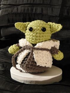 Yoda Amigurumi Crocheted Doll