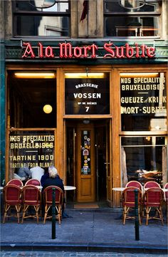 A la Mort Subite Brasserie | Brussels. Photo  by Mark Sunderland via facebook