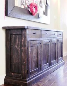 Build your own Rustic Sideboard/Buffet Table. Free #Plans at Ana-White.com #DIY building furniture building projects
